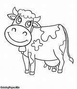 Cow Coloring Pages צ�יעה Farm Animals Preschool דפי פרה חיות דף Cartoon Cute Printable Animal Colour Coloringpages Site לצ�יעה להדפסה sketch template