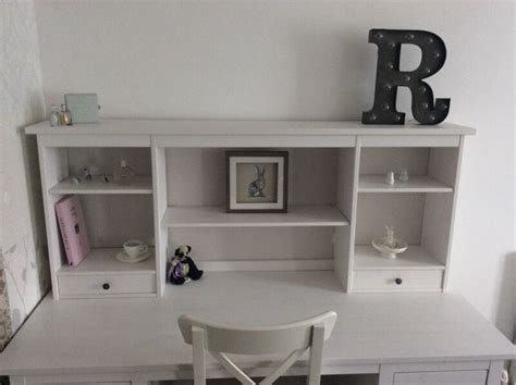 Ikea Hemnes White Stain Add On Desk Dressing Table Shelf
