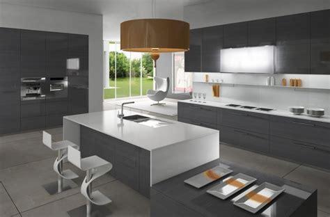minimalist kitchen island cuisine blanche et grise 30 designs modernes et 233 l 233 gants 4143