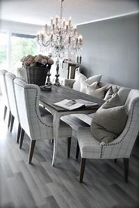 grey rustic dining table with beautiful fabric chairs the With rustic modern dining room chairs