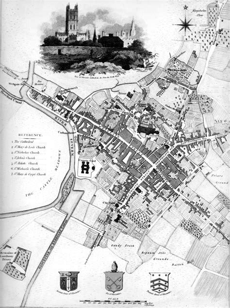 Gloucester about 1805, B&W. - Gloucester Civic Trust
