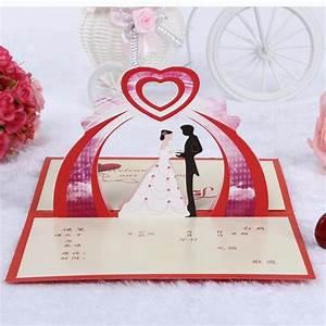 3d creative bride bridegroom wedding invitation fashion for 3d wedding invitations online free