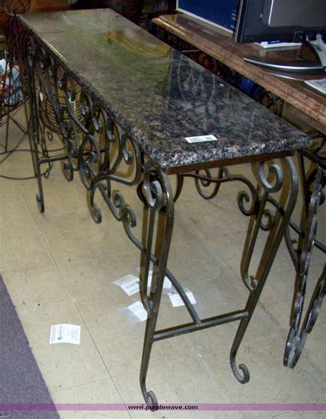wrought iron sofa table wrought iron sofa table rod iron sofa table image