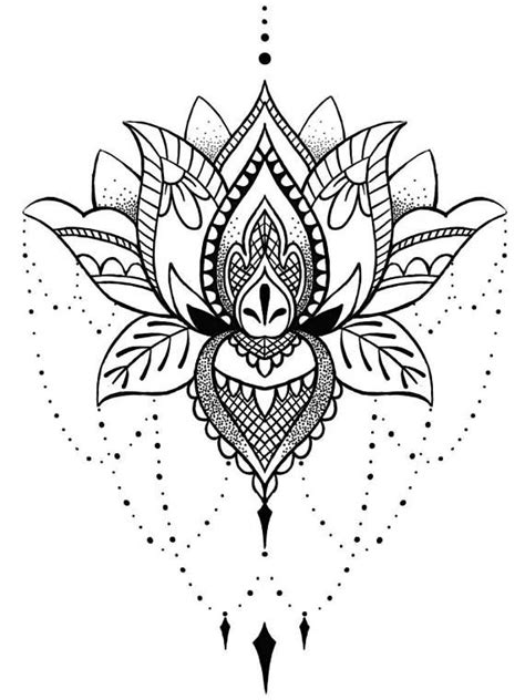 Lotus Mandala Temporary Tattoo Boho Chic Gifts for Her Art | mandala & hamsa | Mandala tattoo