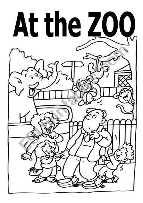 english worksheets  coloring  activity book  zoo