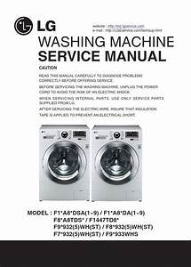 Lg F12a8tda Washer Service Manual And Troubleshooting