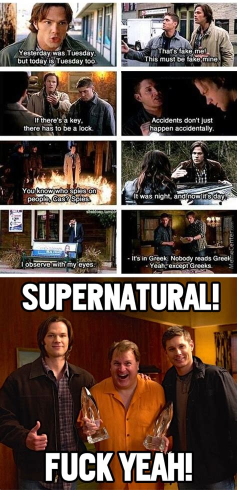 Memes Supernatural - the award winning series supernatural by sciencemajor meme center