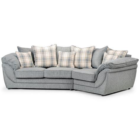 plaid canapé angle canapé angle droit en tissu gris avec coussins chloé dya