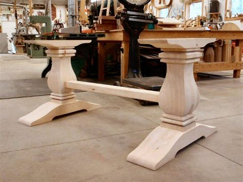 hanson woodturning table bases dining in 2019