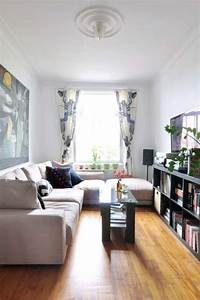 Long narrow living room ideas that won39t cramp your style for Living room layout narrow long