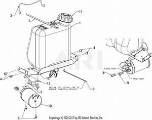 Troy Bilt Pony 13wm77ks211  2016  Parts Diagram For Fuel Tank