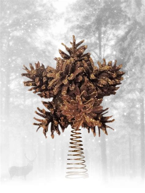 tree topper christmas topper pine cone tree topper