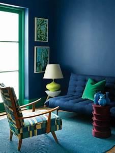 Deco Bleu Petrole : salon bleu p trole bleu canard et bleu paon ~ Farleysfitness.com Idées de Décoration