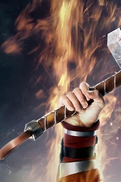 Thor 4k Hammer Mjolnir Wallpapers Iphone Bestwallpapers