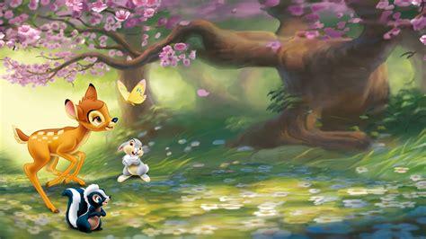 full hd wallpaper bambi forest deer glade friends desktop