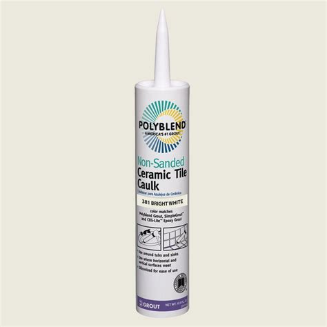 Polyblend Ceramic Tile Caulk by Custom Building Products Polyblend 381 Bright White 10 5