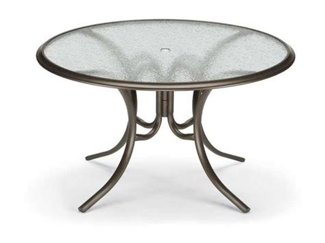 telescope casual glass top 56 dining table with