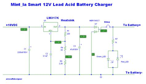 4 lead acid battery charging circuit using lm317