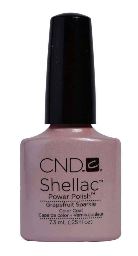 cnd shellac grapefruit sparkle  gel nailscom