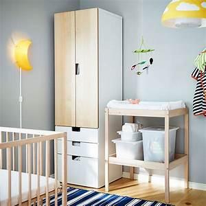 Ikea Kinderzimmer Junge : sniglar wickeltisch und babybett in birke aufbewahrung sboxen in wei birke bunte babylampen ~ Markanthonyermac.com Haus und Dekorationen