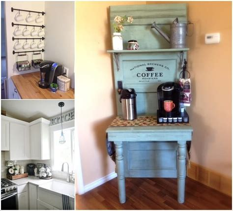 Kitchen Wall Shelving Ideas - 10 corner coffee bar ideas you will admire