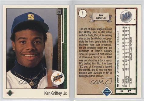1989 Deck Ken Griffey Jr Ebay by 1989 Deck 1 Ken Griffey Jr Seattle Mariners Jr Rc