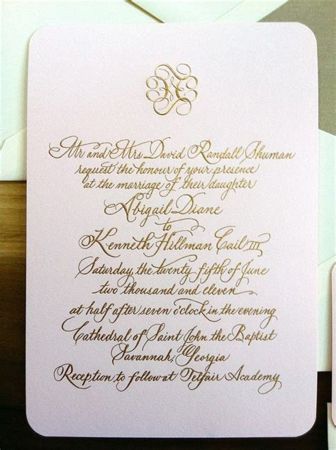 27+ Beautiful Image of Engraved Wedding Invitations