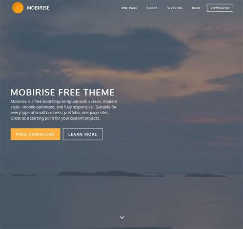 html bootstrap blank theme