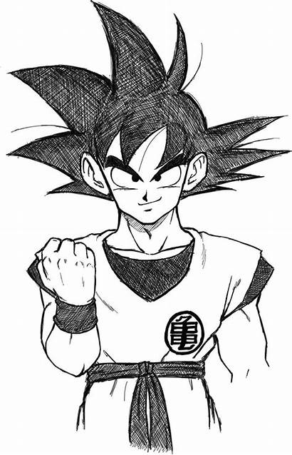 Goku Dragon Ball Drawings Drawing Dibujos Cool