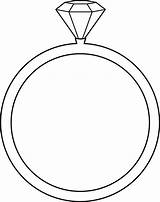 Coloring Ring Diamond Shape sketch template