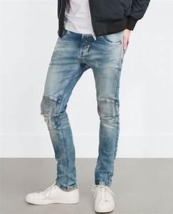 Zara Biker Jeans in Blue for Men | Lyst