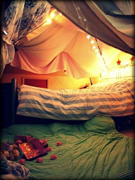 a perfect date for all couples build a fort out of sheets