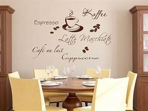 Wandtattoos Küche Esszimmer : wandtattoo kaffee style mit kaffeebohnen ~ Watch28wear.com Haus und Dekorationen