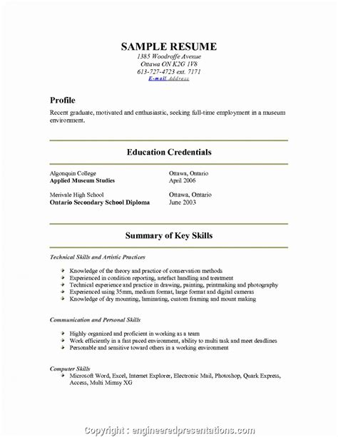 Resume About Me by Unique About Me Resume Exles Resume Exles