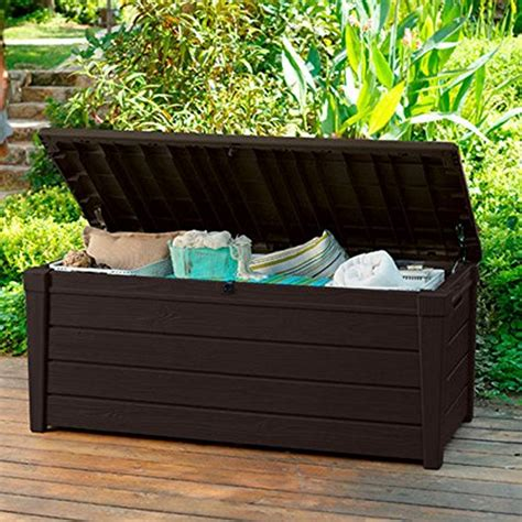pool deck storage box and bench is 2 in 1 multifunctional
