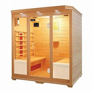four person infrared sauna with ceramic heaters