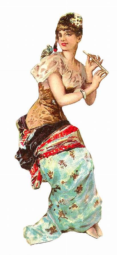 Victorian Woman Clip Clipart Bird Scrap Lady