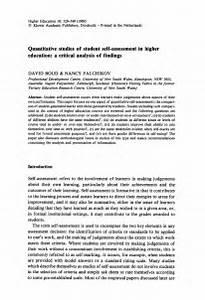 self assessment paper in apa format