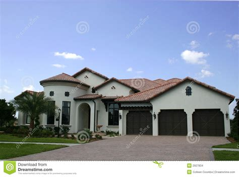 Spanish-type Home Stock Images