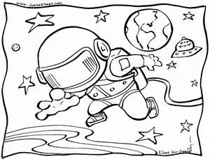 Outer Space Coloring Pages Free