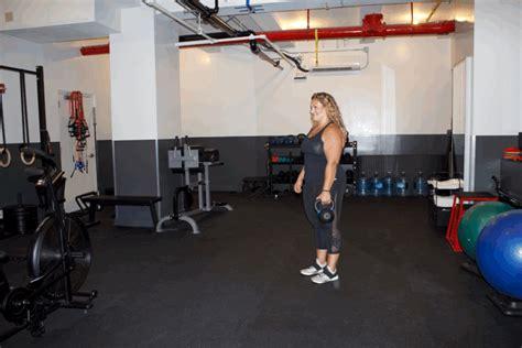 leg deadlift single row kettlebell popsugar workout summers