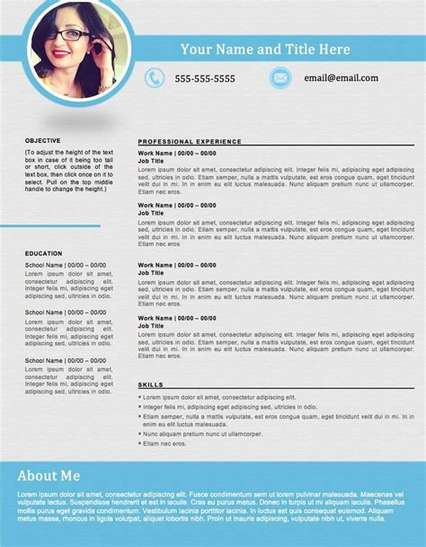 shapely blue resume template edit easily  word https