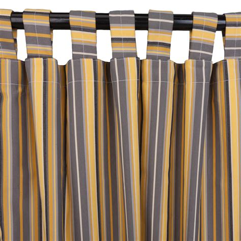 foster metallic sunbrella outdoor curtains with tabs