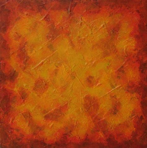 Sun Burnt Orange Contemporary Art Abstract Painting
