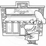 Owner Drawing Pizza Cartoon Getdrawings sketch template
