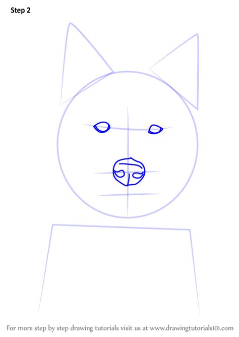 learn   draw  siberian husky dog head dogs step  step drawing tutorials