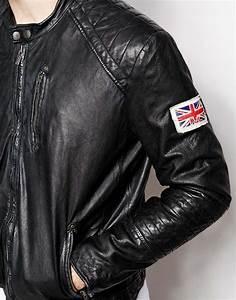 Pepe jeans Pepe Leather Jacket New Lennon Slim Fit Biker in Black for Men | Lyst