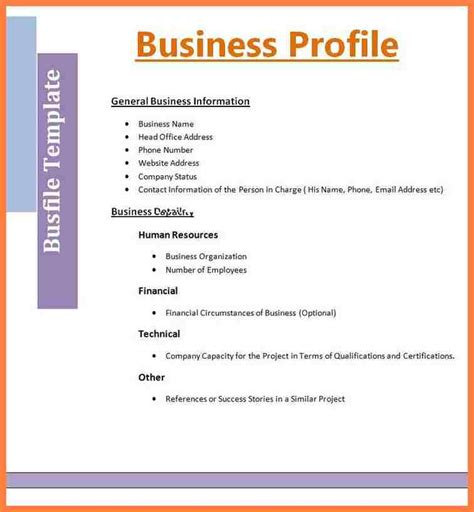 Profile Template 5 Microsoft Office Company Profile Template Company