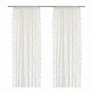Alvine spets lace curtains 1 pair ikea for Lace curtains ikea