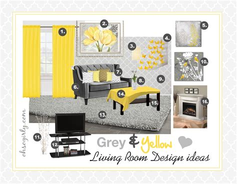 Light Gray Curtains Ikea by Yellow And Grey Living Room Design Idea Oh So Girly